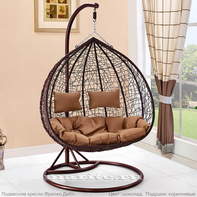 Подвесные кресла из ротанга  Купить недорого кресла