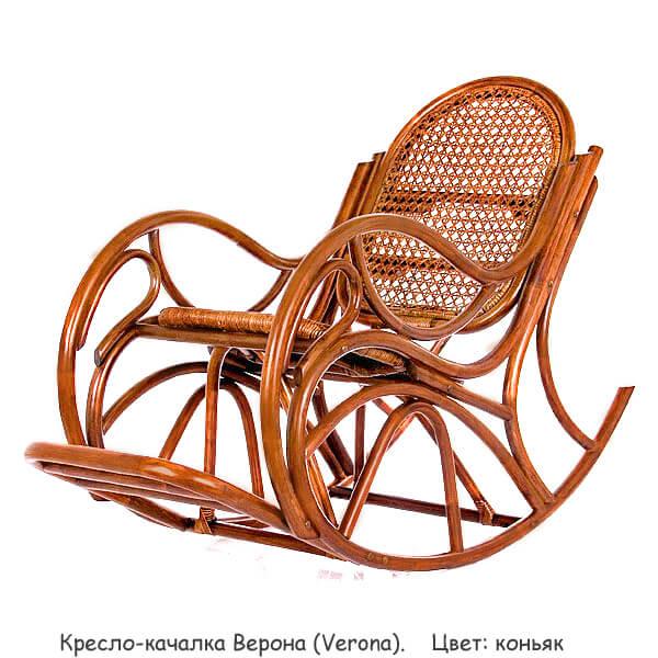 кресло качалка из ротанга 004021 цвет коньяк орех 49 кресла